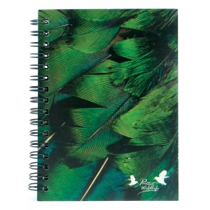 A6 Journal - Birds Emerald
