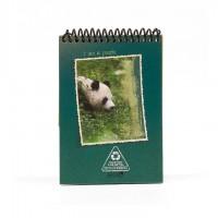 A6 Notepad - Wild Aqua Green Panda