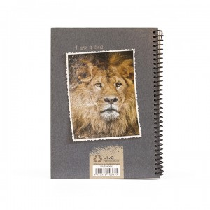 A5 Notebook - Grey Lion King