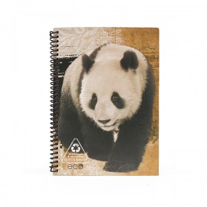 A5 Notebook - Charming Natural Panda