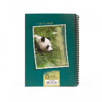 A5 Notebook - Wild Aqua Green Panda