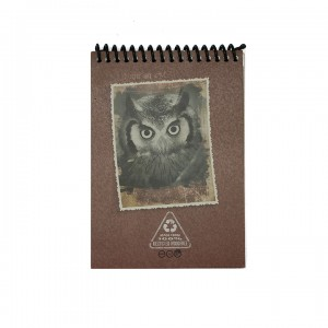 A6 Notepad - Burgundy Owl