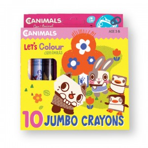 Canimals Jumbo Crayon 10's 2015