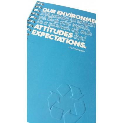 Eco Jotter A5 Blue ATTITUDES