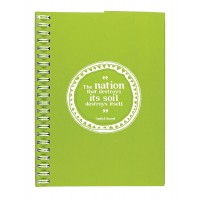 Eco Jotter Lime NATION