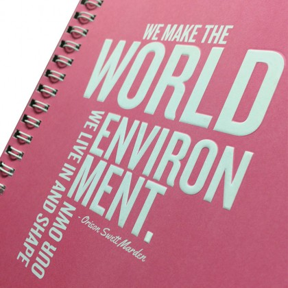 Eco Jotter A5 Pink WORLD