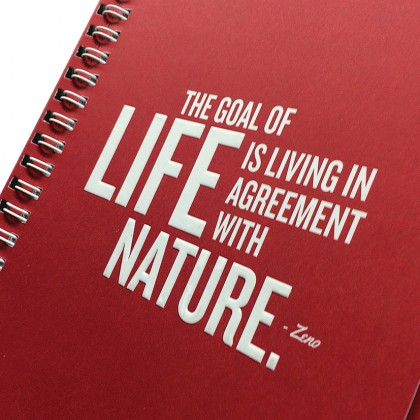 Eco Jotter A5 Red LIFE