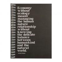 Eco Jotter Black ECONOMY