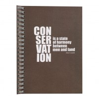 Eco Jotter Brown CONSERVATION