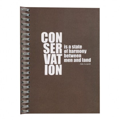 Eco Jotter A5 Brown CONSERVATION