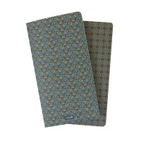 Duo Notebook 7'' x 4'' Teal Blue
