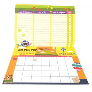 Canimals Monthly Activity Planner -Green