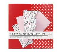 Themed Paper For Self-Fold Envelope - Send Out Love