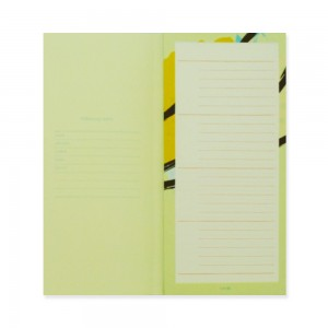 90210 Notepad Pastel Yellowish