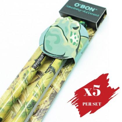 5x pcs set of Greencious 2B OBN Wildlife 2's Turtle