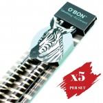 5x pcs set of Greencious 2B OBN Wildlife 2's Zebra