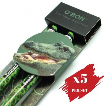 5x pcs set of Greencious 2B OBN Wildlife 2's Alligator