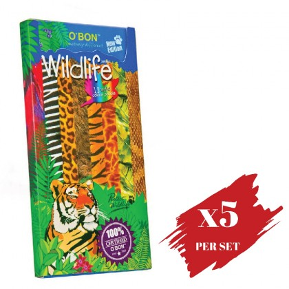 5x boxes set of  Colour Pencil OBN Wildlife 12's