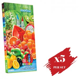 5x boxes set of Colour Pencil OBN Fruits OBONanza