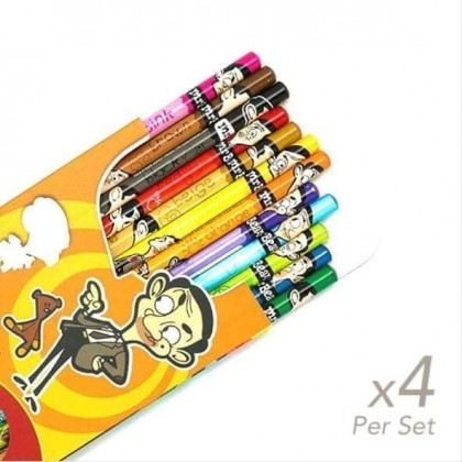 4x boxes set of Colour Pencil OBN Mr Bean