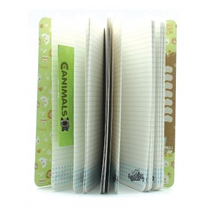 5x set of Spring Hearts Slim Notebook Fizzy