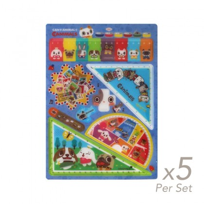 5x set of Spring Hearts Canimals Ruler