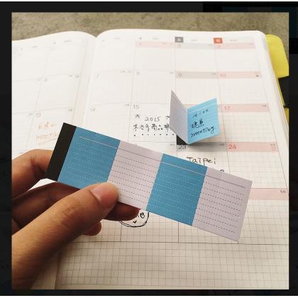 Booklet Sticky Light Blue Pink 08