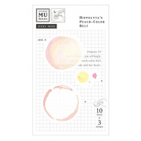 Watercolor Translucent Sticky Note 10 Hippolyta's Peach-Color Belt