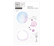 Watercolor Translucent Sticky Note 11 Theseus' Wine-Red Feast
