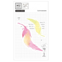 Watercolor Translucent Sticky Note 19 Lovebirds