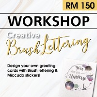 June 2019 Workshop - Creative Gift Card Envelope Brush Lettering