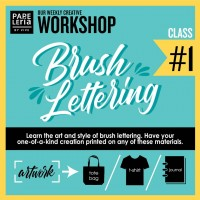 August 2019 Workshop - Creative Brush Lettering