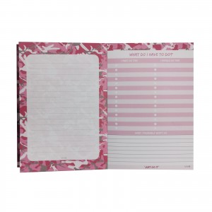 Camo Pink Just Do It NotePad