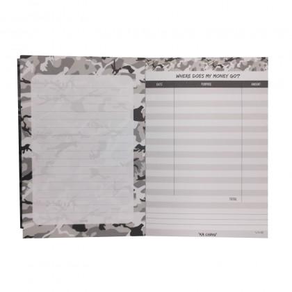 Camo Grey KaChing NotePad