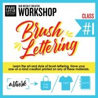 September 2019 Workshop - Creative Brush Lettering