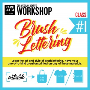 September 2019 Workshop - Creative Brush Lettering