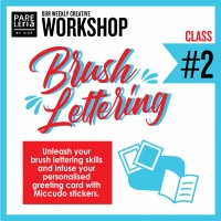 September 2019 Workshop - Creative Gift Card Envelope Brush Lettering