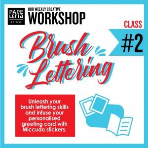 September 2019 Workshop - Creative Gift Card Envelope Brush Lettering