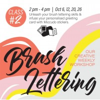 October 2019 Workshop - Creative Gift Card Envelope Brush Lettering