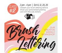October 2019 Workshop - Creative Gift Card Envelope Brush Lettering