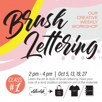 October 2019 Workshop - Creative Brush Lettering