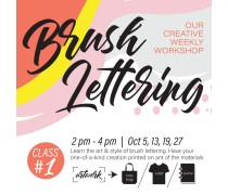 October 2019 Workshop - Creative Brush Lettering