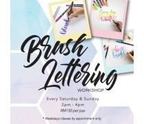 November 2019 Workshop - Creative Brush Lettering