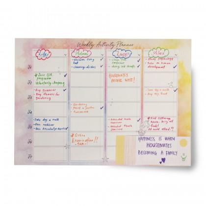 Weekly Activity Planner - Mermaid Pink