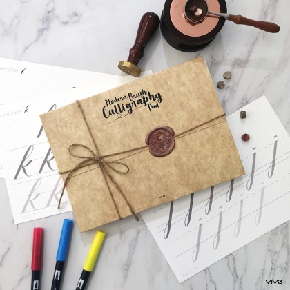 Modern Brush Calligraphy Set with Tombow