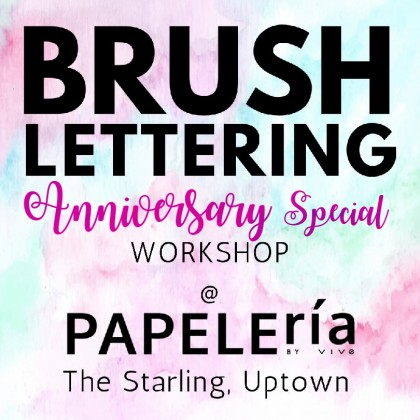 Anniversary Special Workshop - Creative Brush Lettering September