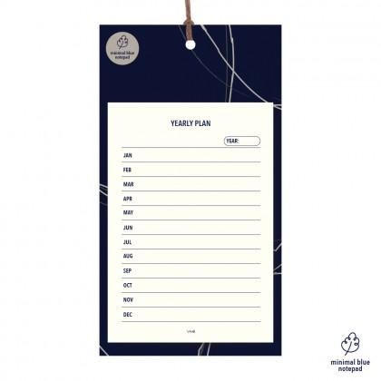Minimalist Blue Yearly Plan